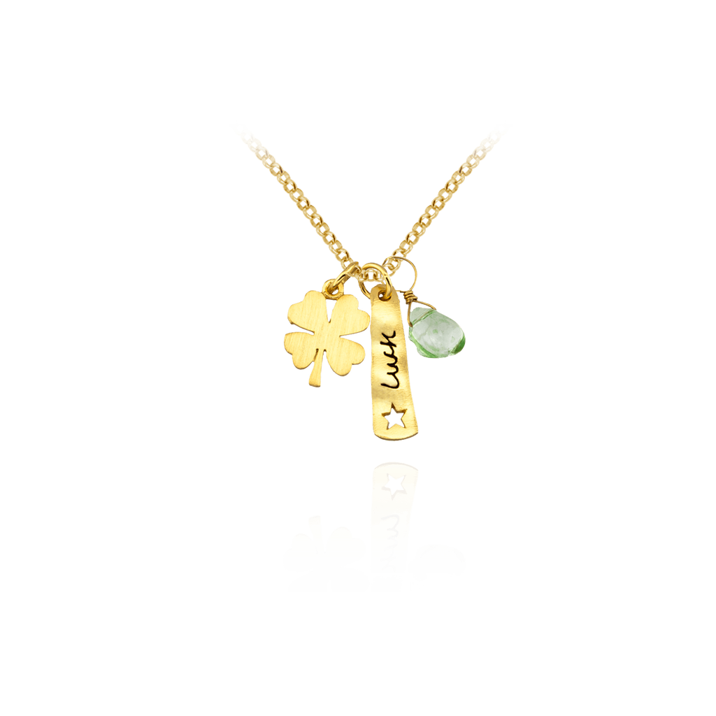 Luck Pendant with Four Leaf Clover Charm