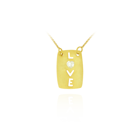 Rectangular LOVE Pendant