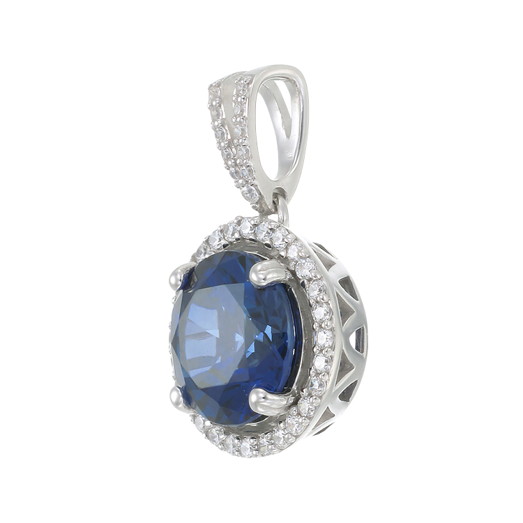 pendants saphire drop collection diamond and sapphire pendant