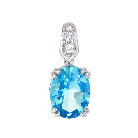 Classically Elegant Passion Topaz Pendant