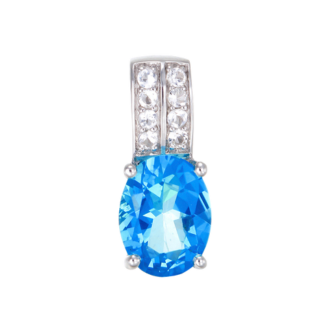 Glamorous Passion Topaz Pendant with Natural White Topaz