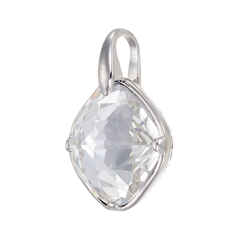 Luminous Deco Influenced White Crystal Pendant