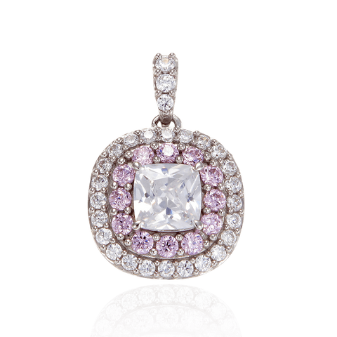 Sparkling Hypnotic White and Pink Pendant