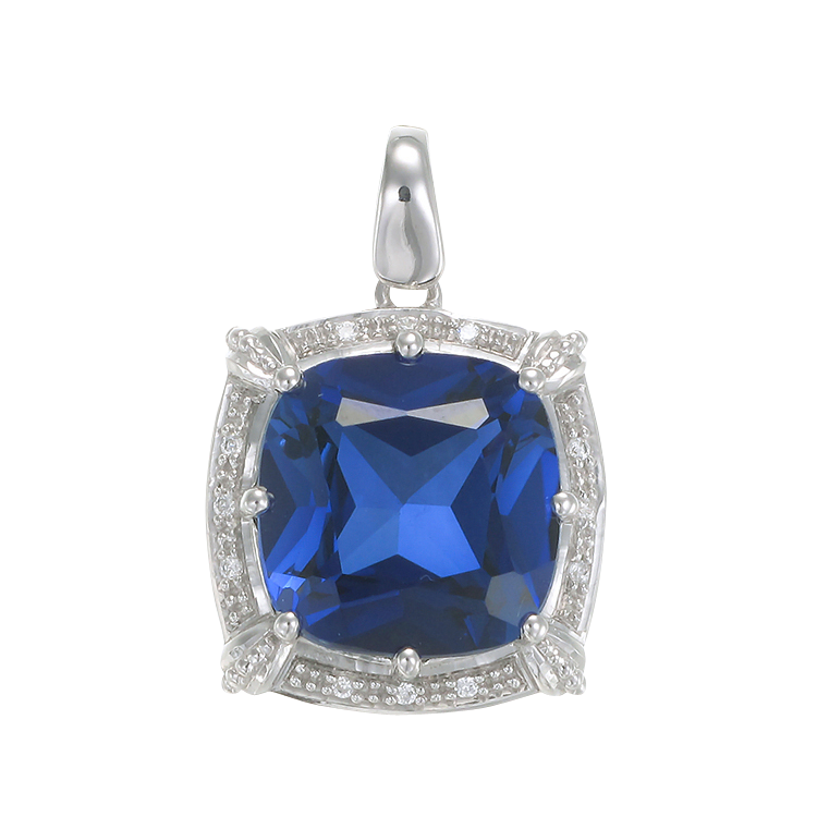 Sparkling Vintage Inspired Sapphire Pendant