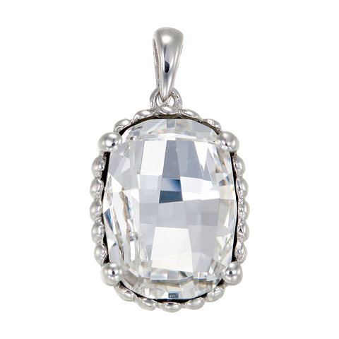 Luminous White Crystal Pendant