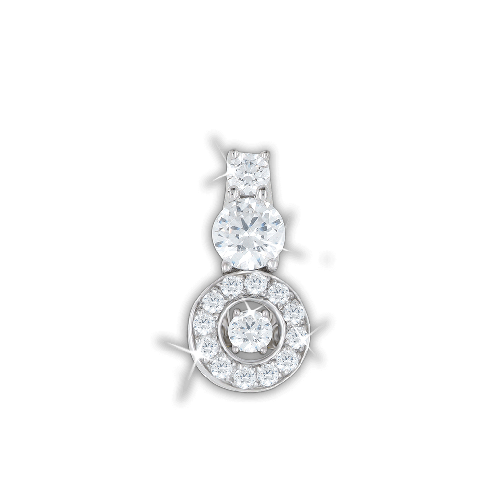 Halo Pendant with double Swarovski Zirconia drop