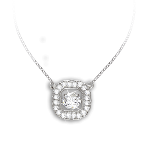 Cushion design Pendant with Swarovski Zirconia