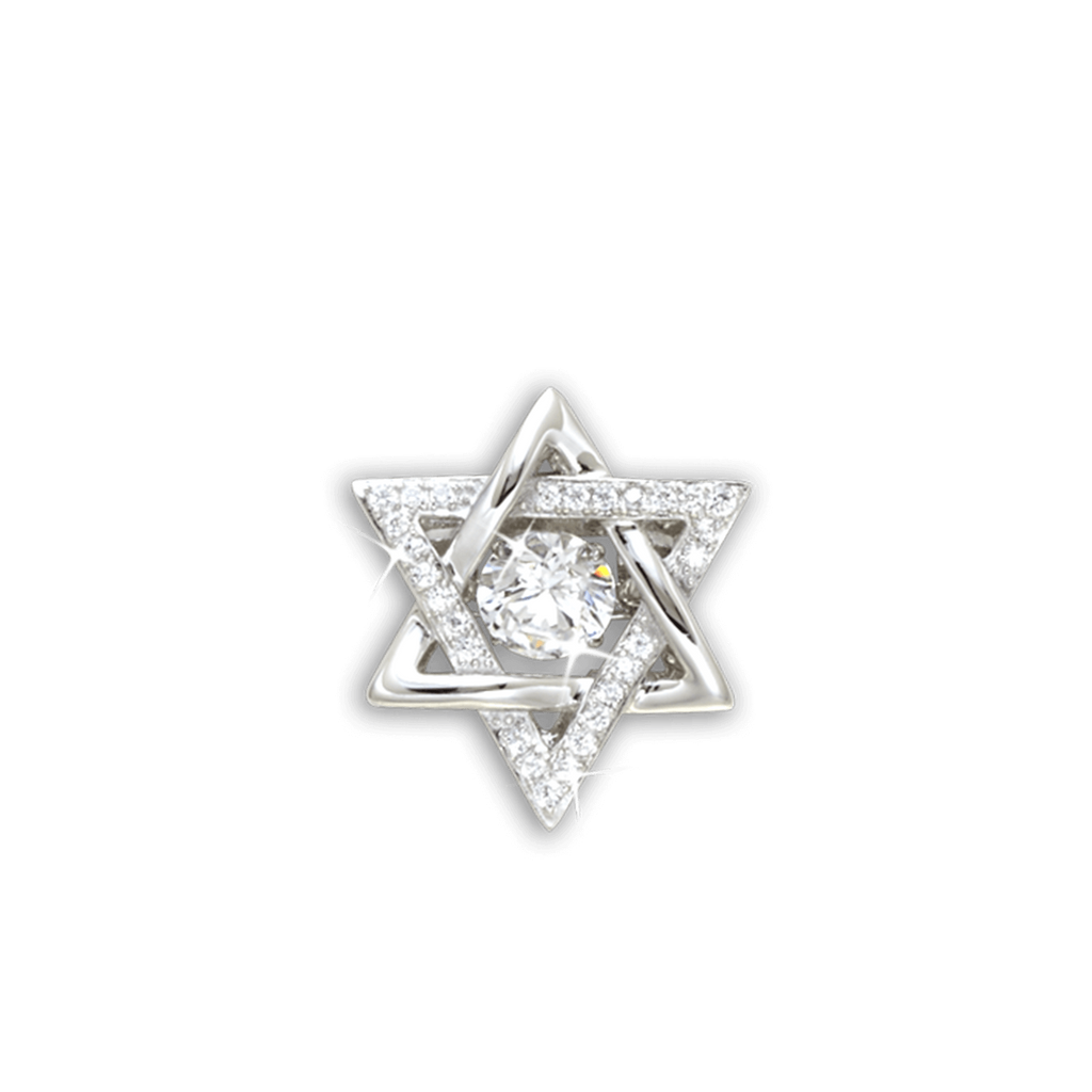 Star of David Pendant with Swarovski Zirconia