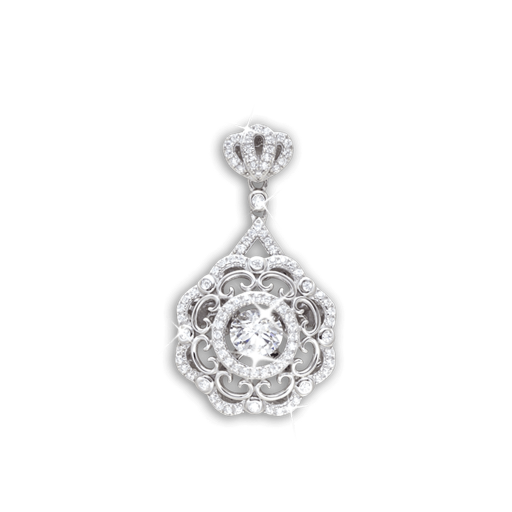 Large Vintage design Pendant with Bail Crown detailed