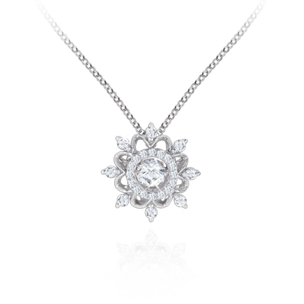 Large Vintage design Pendant with Swarovski Zirconia