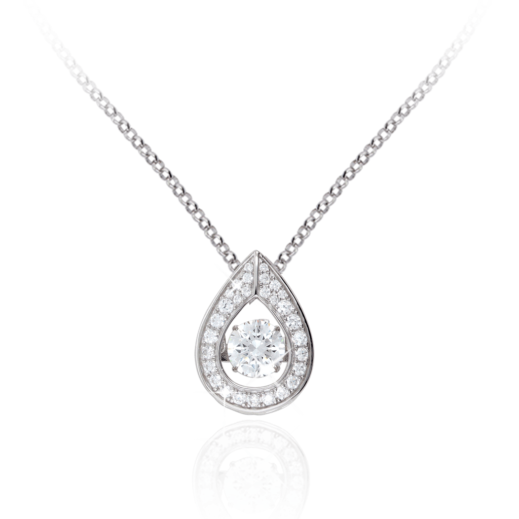 Large Tear design Pendant with Swarovski Zirconia