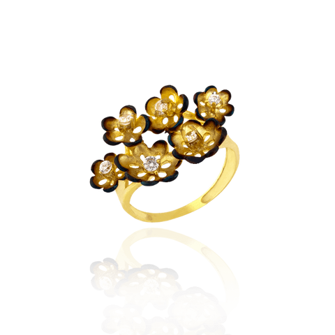 Ember Buttercup Cluster Ring