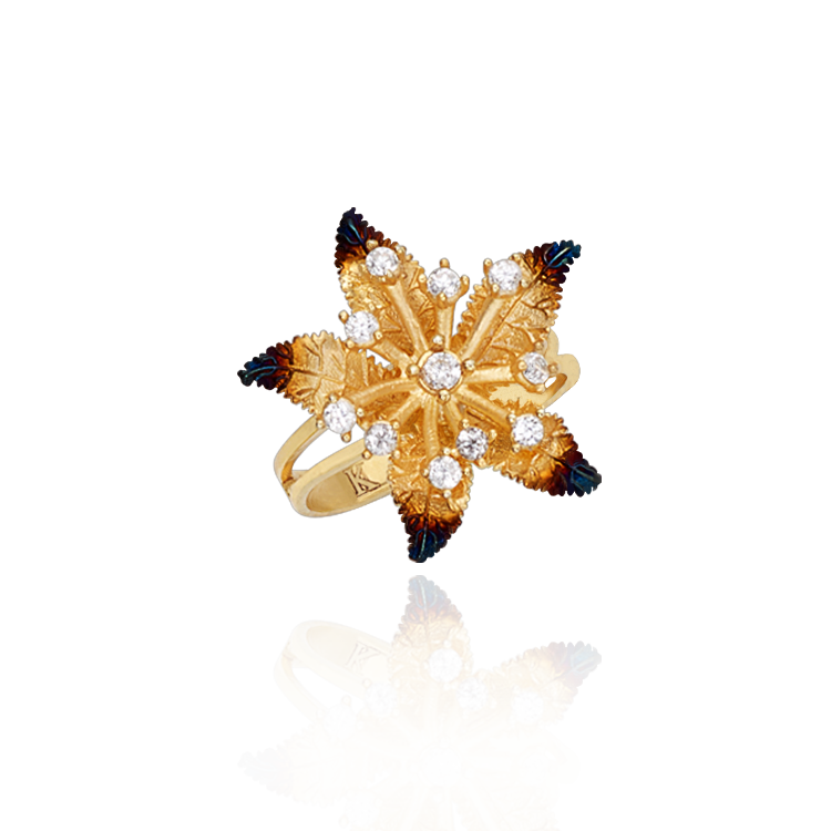Ember Star Flower Ring