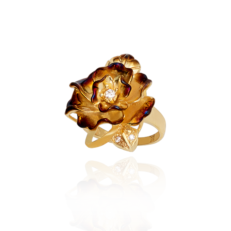 Small Ember Rose Ring