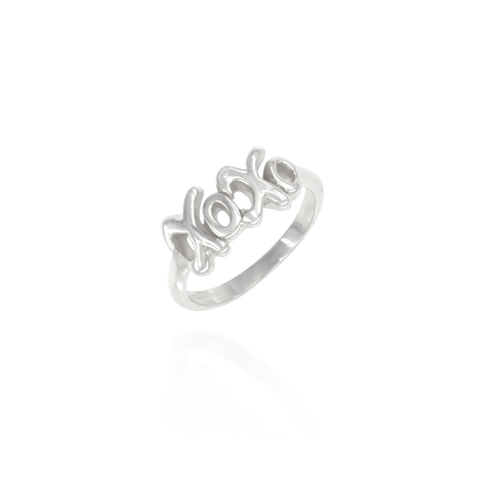 "Scripted ""XOXO"" Ring"