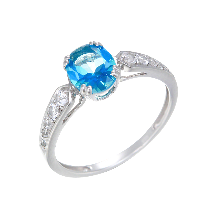 Classically Elegant Passion Topaz Ring