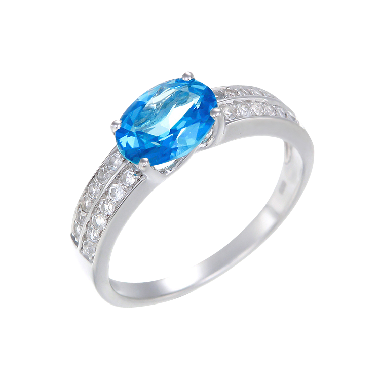 Glamorous Passion Topaz Ring with Natural White Topaz