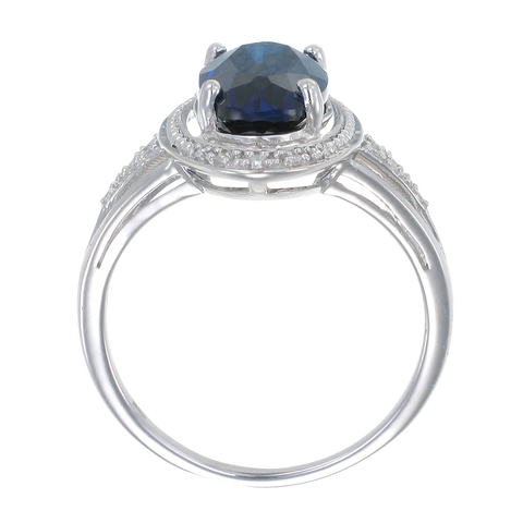 Classic Oval Blue Sapphire Ring