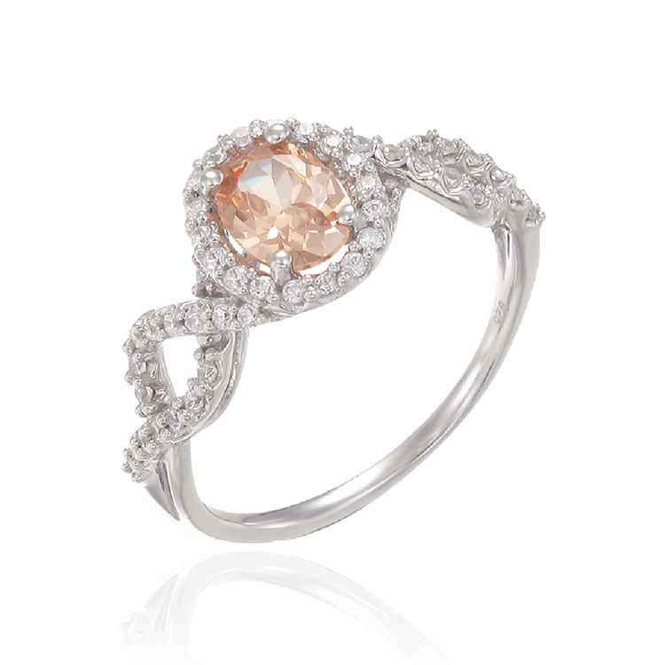 Twisted Spiral Champagne Ring