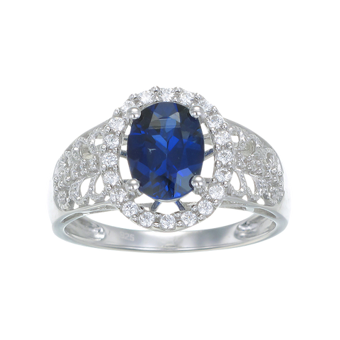 Vintage Inspired Blue Sapphire Ring