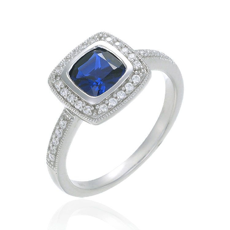 sapphire diamond carat no platinum cut heat ring and cushion