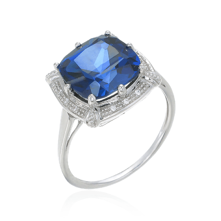 Sparkling Vintage Inspired Sapphire Ring