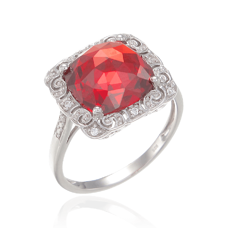Classically Styled Passion Red Ring