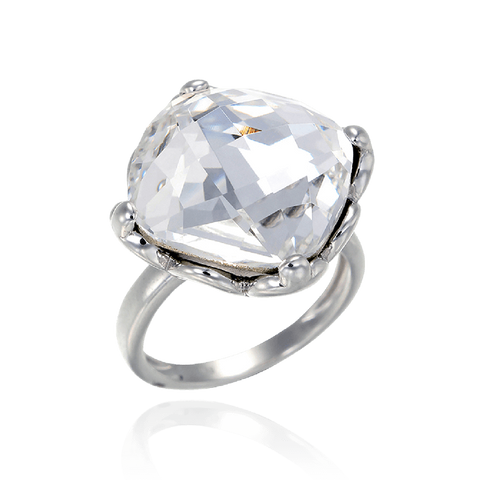 Brilliant White Crystal Ring