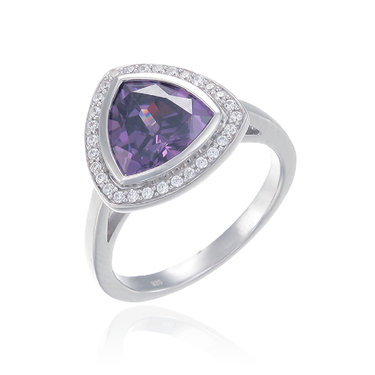 Deco Inspired Ring in Amethyst