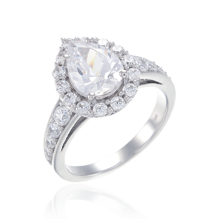 Pear Cut Sparkling Ring