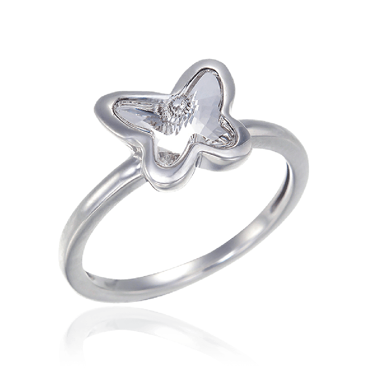 Crystal Glowing Butterfly Ring