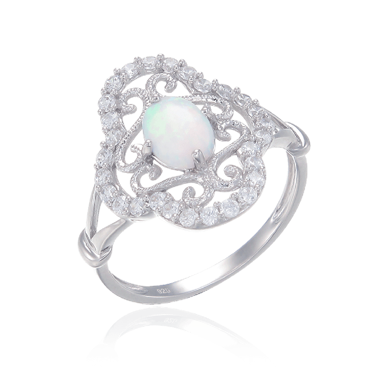 Filigree Opal Ring