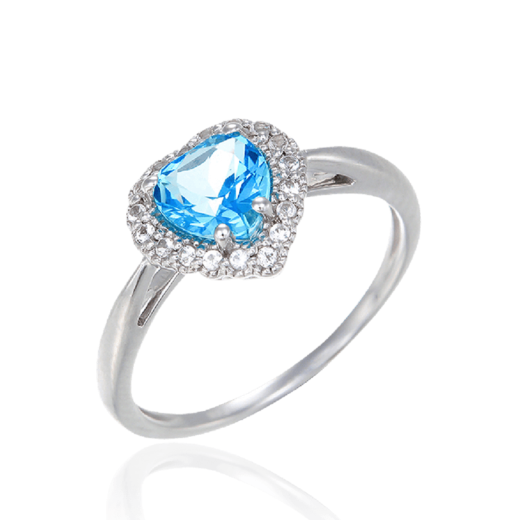 Luscious Passion Topaz Heart Ring
