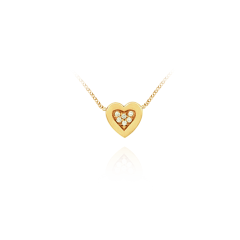 Heart With Diamonds Necklace