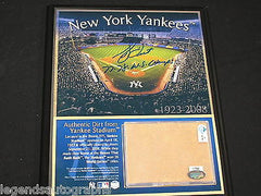 BUCKY DENT Signed NY Yankees Stadium Game Used Dirt Plaque Auto STEINER COA