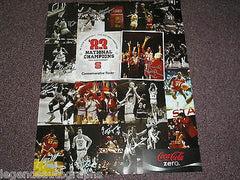 NC STATE WOLFPACK 1983 TEAM Signed POSTER BASKETBALL Auto Lorenzo Charles + 11