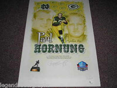 PAUL HORNUNG Signed Green Bay Packers Lithograph Autograph Litho Print Auto COA