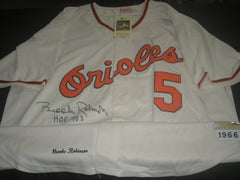 BROOKS ROBINSON Signed Baltimore Orioles JERSEY Autograph RARE Auto HOF 83