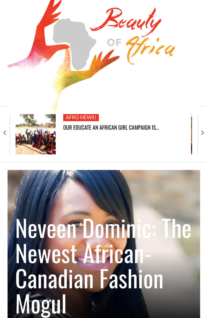 Neveen Dominic: The Newest African-Canadian Fashion Mogul: September 14, 2016