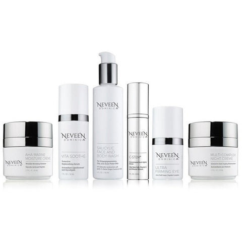 Neveen Dominic Advanced Anti-Aging Regimen formulated to reduce visible signs of aging