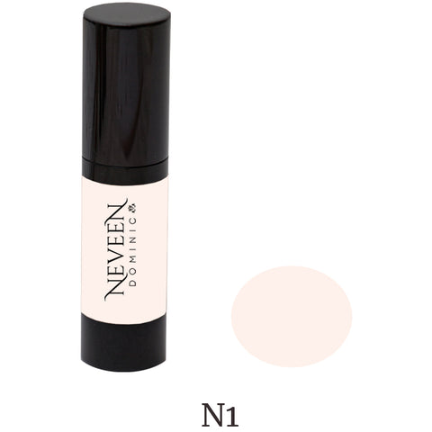 Neveen Dominic cosmetics make-up makeup liquid hi-def high-def foundation for the flawless look you deserve