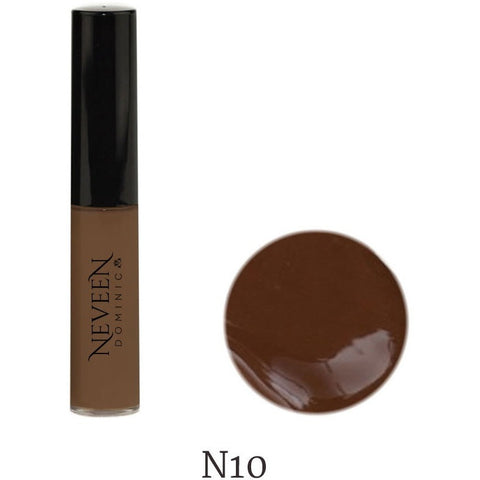 longwear water-resistant for hiding dark spots and circles, providing medium coverage for a natural look liquid concealer neveen dominic cosmetics calgary alberta