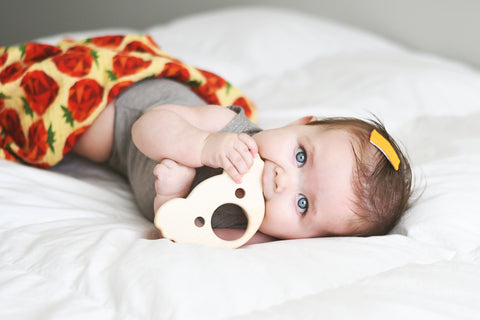 Organic Handcarved Wooden Koala Teether | Collab with Hew Woodworking - Oliver + Kit