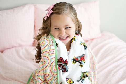 Roller Rainbow | 8-Layer Bamboo Blend | Reversible Cuddle Blanket - Oliver + Kit