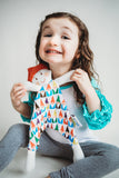 Lars the Gnome | Multi-Color Gnome | Cotton Snuggle Lovie - Oliver + Kit