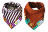 Roar | Cotton Kerchief Bibs | 2 Pack