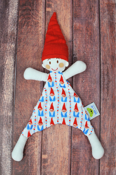 WHOLESALE Sven the Gnome | Red & Blue Gnome | Cotton Snuggle Lovie - Oliver + Kit