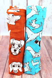 Love Me, Love My Dog | Bamboo Blend | Swaddle Duo - Oliver + Kit
