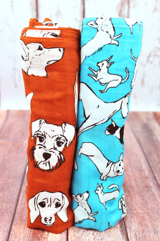Love Me, Love My Dog | Bamboo Blend | Swaddle Duo