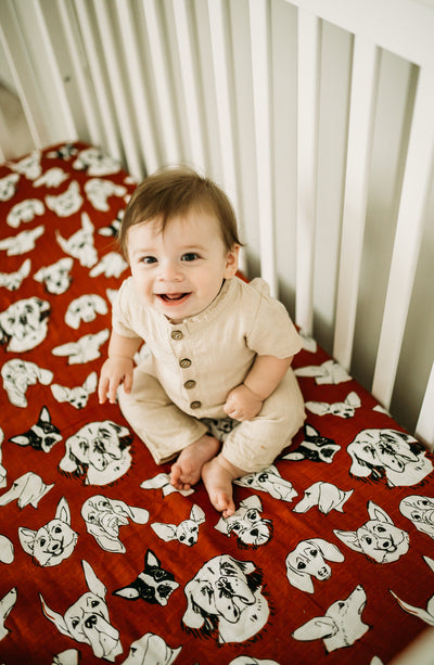 Three Dog Night | Bamboo Blend Crib Sheet - Oliver + Kit